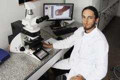 Dr. Daniel Barčák – PhD. student at microscopic examinations of parasites